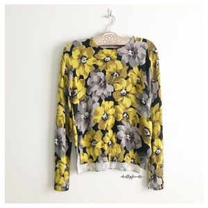 Who What Wear Size XS Floral Print Sweater